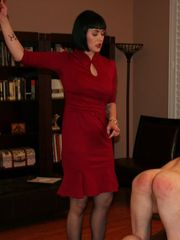 Snow Mercy enjoys caning the houseboy