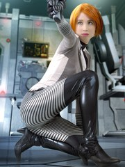 Female Sephard Mass Effect nude cosplay