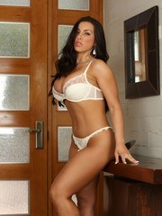 Brianna Jordan toys her self in cowboy boots