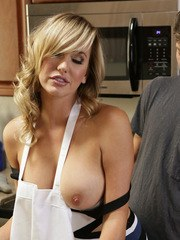 Alice March is helping her stepmom Brett Rossi as they bake cookies together while
