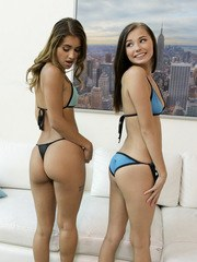 Jillian Janson comes across her students Uma Jolie and Carolina Sweets as they are