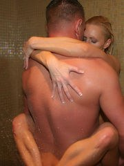 NaughtyAllie gets drilled in the shower and takes nice cum f...