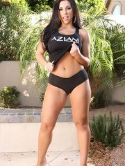Brianna Jordan looks so adorable in her Aziani gear showing off her awesome boobs