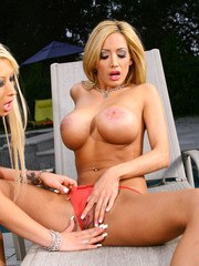 Lexxi Tyler and her girl Candy Manson are back to heat thigns up some more today.
