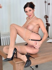 Super stacked milf Rachel Evans is a savvy business woman who uses her huge enhanced