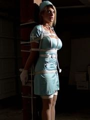 A Nurse Tied Up In The Storage