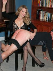 Over the Knee Spanking and Penis Smacking with Mistress Aleana