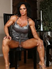 Big beautiful Rhonda Lee flexes and models her hot body as she strips off her dress.