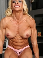 Jill Rudison shows off her ripped up sexy naked body as she flexes and poses her