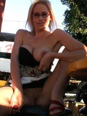 Kylie Worthy has her glasses on for this outdoor flash-fest and has fun exposing