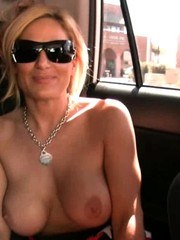 Busty blonde babe Tyler Faith gets super horny in the car and decides she just has