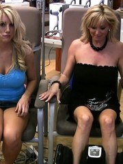 Heather Summers has fun flashing her pussy for the camera out at the mall!