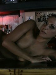 Gorgeous Cassidey takes us to her favorite sports bar and decides to get naked on