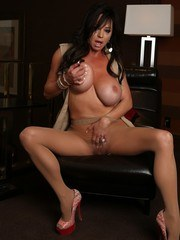 Sexy striptease and fun pantyhose play with Rachel Aziani.