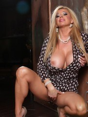 Sexy busty babe Rachel Aziani puts on a sexy striptease. She grew out her pussy hair