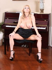 Rachel Aziani Spreading in front of Piano