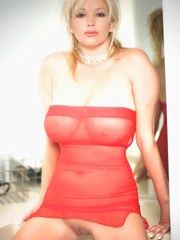 was ready to hit the town! All dressed up in my sexy heels and red dress. One small