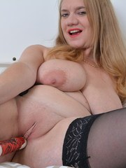 Horny housewife playing with herself and getting wet