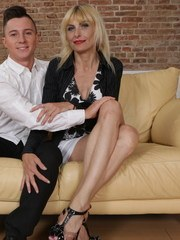 Naughty housewife having loads of fun with her toy boy
