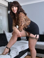 Naughty British housewife getting wet and wild