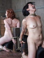 What do you do with two sluts for the price of one? You mess them up of course! Mia