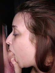 BBW Tiffany sucks 6 strangers at our gloryhole and enjoys swallowing every single