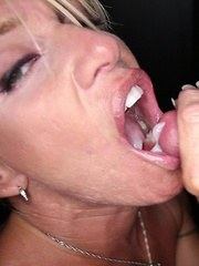 Gina sucks 8 strangers at our gloryhole and loves their cum.