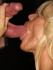 Fit blonde beauty Gina 13 strangers cocks in our gloryhole. Sucking fucking and swallowing!
