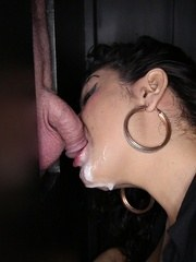 BBW Katrina gives 11 strangers a blowjobhandjob mix and they cum all over her.