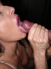 MILF Jade gives 14 strangers a blowjobhandjob mix. She masturbates and lets them