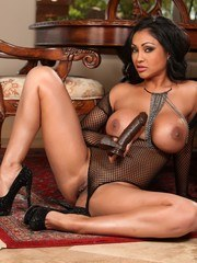 Sexy see thru lingerie and a big black cock is just what sexy Indian Priya Anjali