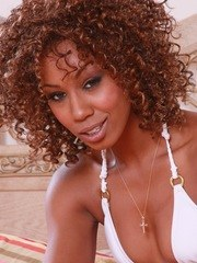 Gorgeous ebony porn star Misty Stone shows off all her tight curves