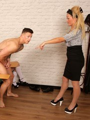 Jack has forgotten his PE Kit again so teacher Rebecca tells him to do the class
