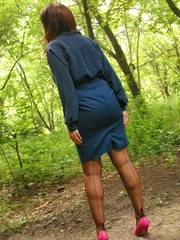 A hottie in the forest