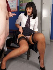 The nosy janitor gets himself a blow job from Eden!