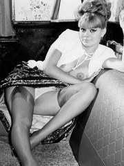 Vintage blonde shows up skirt views of panties harry pussy and stockings!