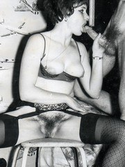 Rauncy swinging Brit chicks in stockings love cock in their mouth and pussy!