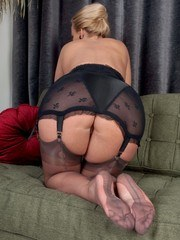 Lovely MILF Taylor offers you her hot nyloned feet!
