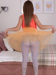 Gunita is wearing a sexy tutu today and being a sexy ballerina. She strips naked