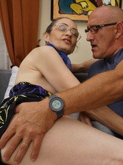 Naughty mature lady fucking with her lover