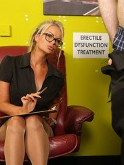 Therapist Roxi Lloyd wants to help a male patient with his Erectile Dysfunction problem