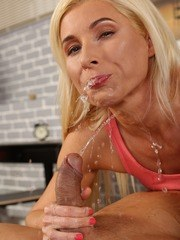 Gorgeous Vanessa Hell fucks and gets pee soaked