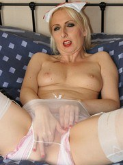 Sheer nylon nurse fingers ass