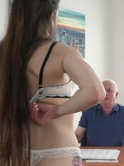 Dirty student offering sex to headmaster! Enjoy lovely old and young sex with sexy