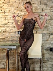 Always horny Russian Tatiana is the milf youll fall in love with! A sheer bodysuit