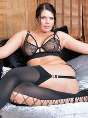 Kelly Steward in Sexy Lingery and Stockings