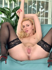 Blonde and beautiful Affina Kisser is a Russian housewife whose lonely days are spent