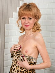 Russian granny Squirrel is a classy lady with a body youll love. Peeling off her
