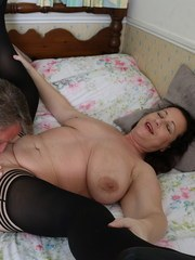 Naughty curvy British housewife fucking her ass off