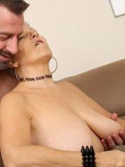 Horny British mature lady doing her lover